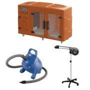 Maquina de Secar Laranja + Secador 5000 Cinza e Soprador Rx Azul Kyklon