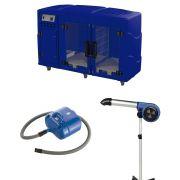 Maquina de Secar + Secador 7000 e Soprador Revolution Kyklon Azul