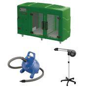 Maquina de Secar Verde + Secador 5000 Cinza e Soprador Rx Azul Kyklon