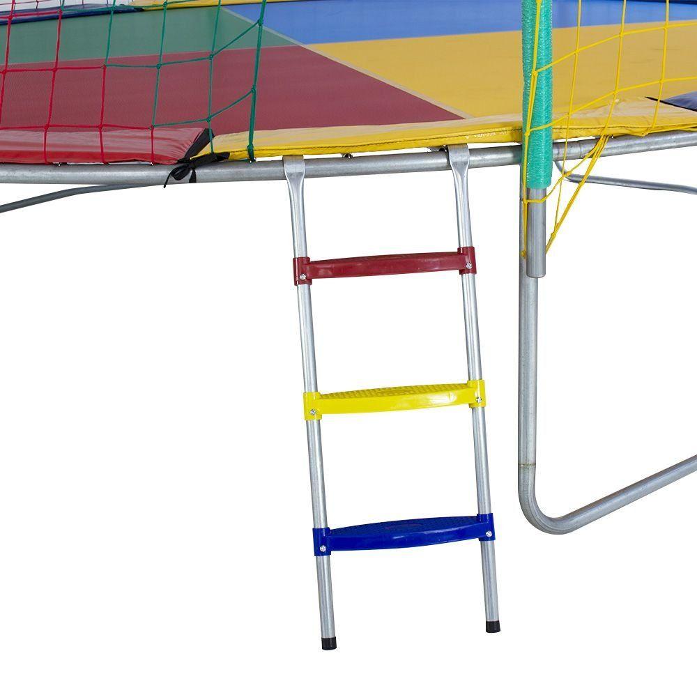 Cama Elástica 4,40m 4 Pés Alcamar Lona Colorida Nacional