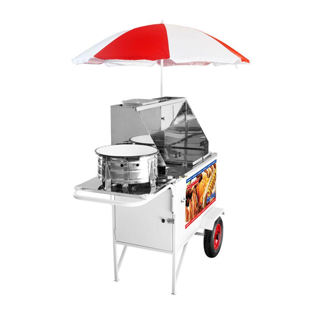Carrinho Ambulante 3 em 1 Hot Dog, Lanche e Salgado Armon CHLSL-013