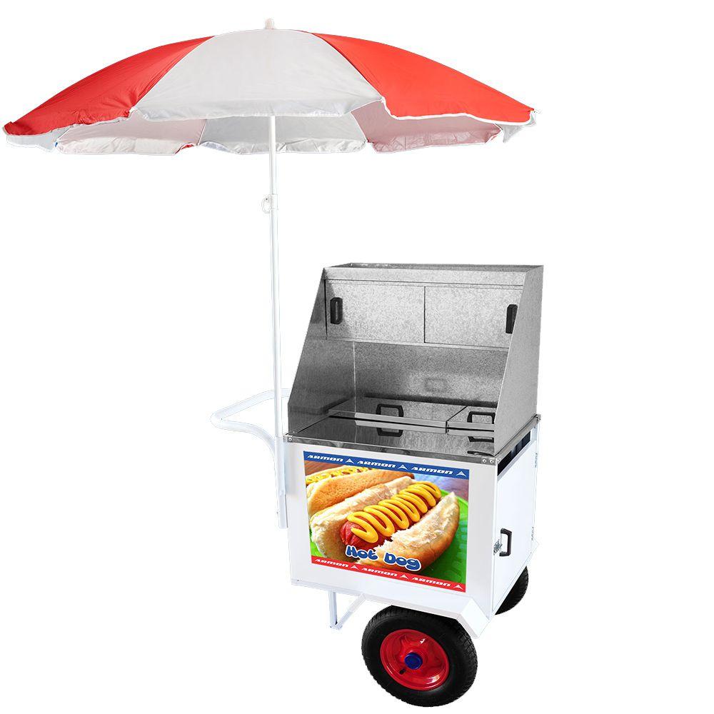 Carrinho de Hot Dog Armon Standard 1 com Rodas Pneumáticas Dsp 006