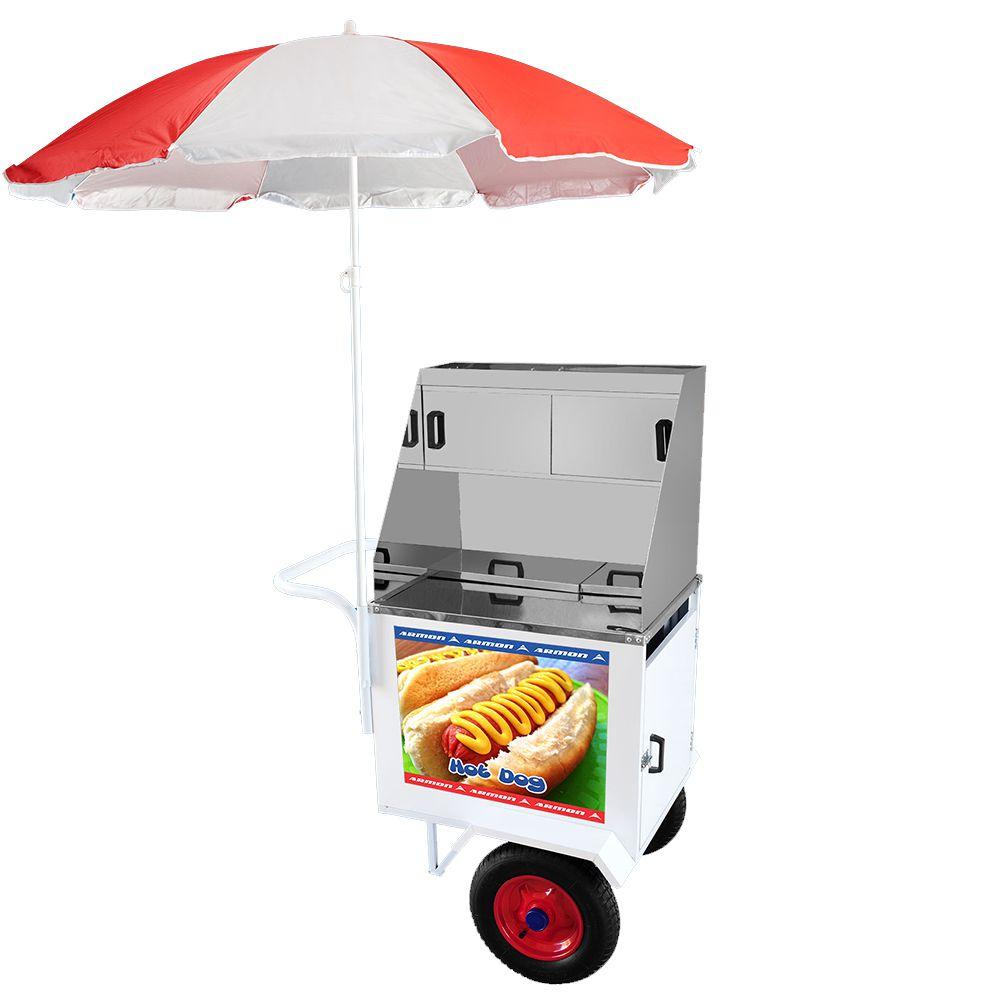 Carrinho de Hot Dog Armon Standard 2 com Rodas Pneumáticas Dsp 006 z
