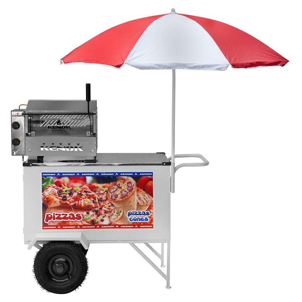 Carrinho de Pizza 3 em 1 Armon Pizza, Mini Pizza e Pizza Cone com Rodas Pneumáticas Cpcl 018