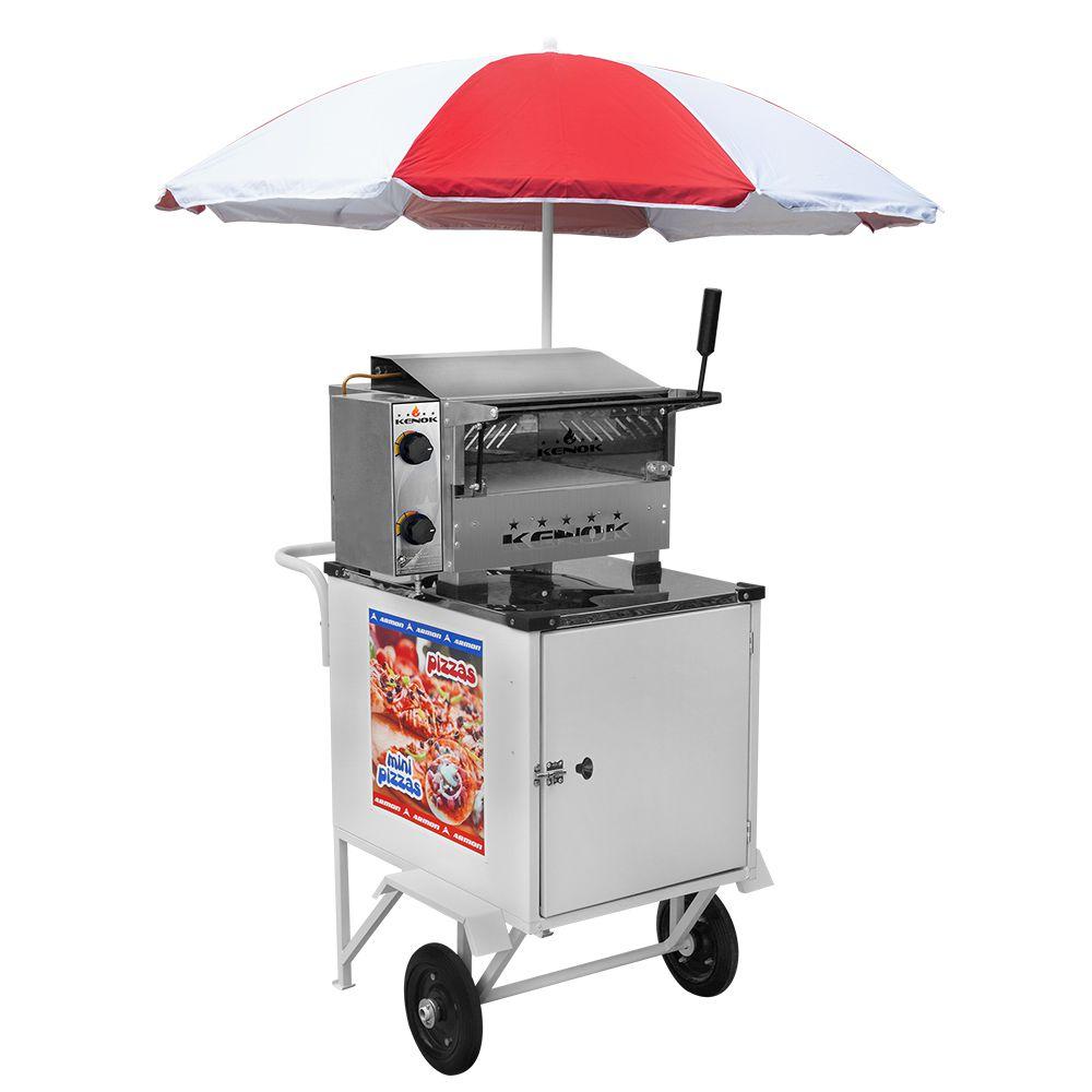 Carrinho de Pizza e Mini Pizza Armon Standard com Rodas Maciças Cps 017