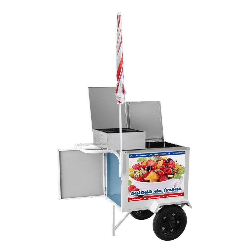 Carrinho de Salada de Frutas Armon com Rodas Pneumáticas Ccsfl 019