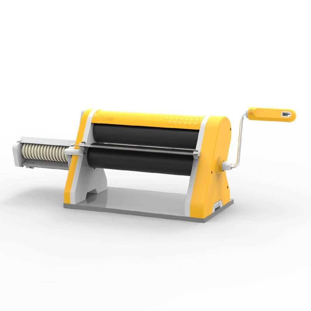 Cilindro Laminador Estilo de 28 Antiaderente com Cortador Amarelo (Saiu de Linha esta Cor)