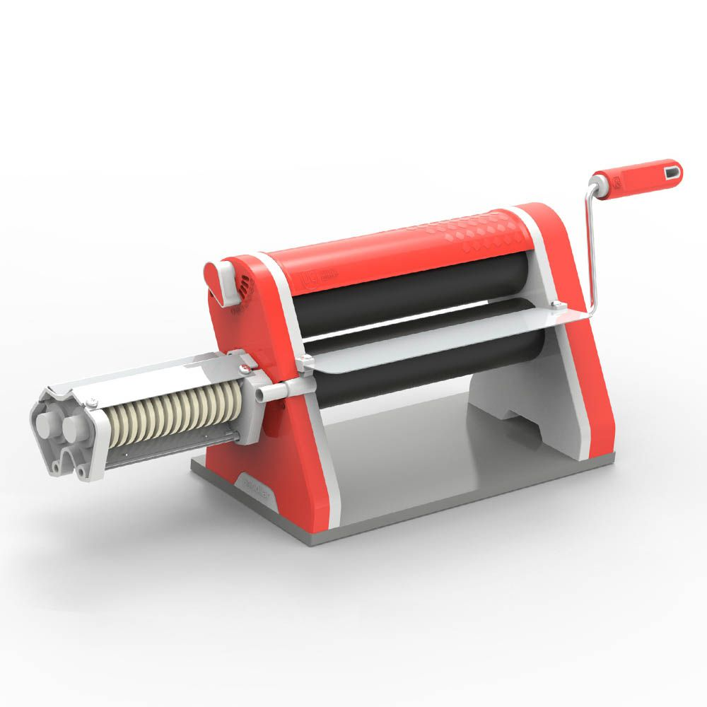Cilindro Laminador Estilo de 28 cm Antiaderente com Cortador Vermelho