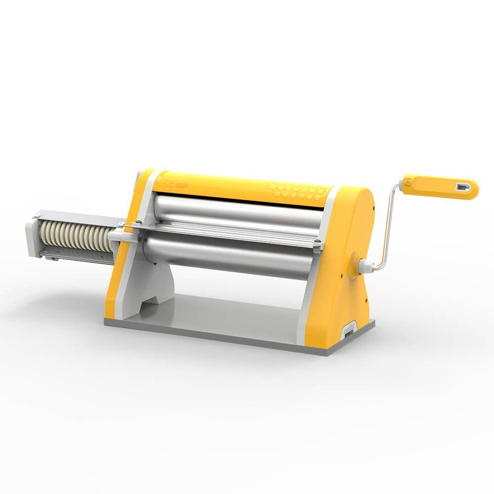 Cilindro Laminador Estilo de 28 cm Cromado com Cortador Amarelo