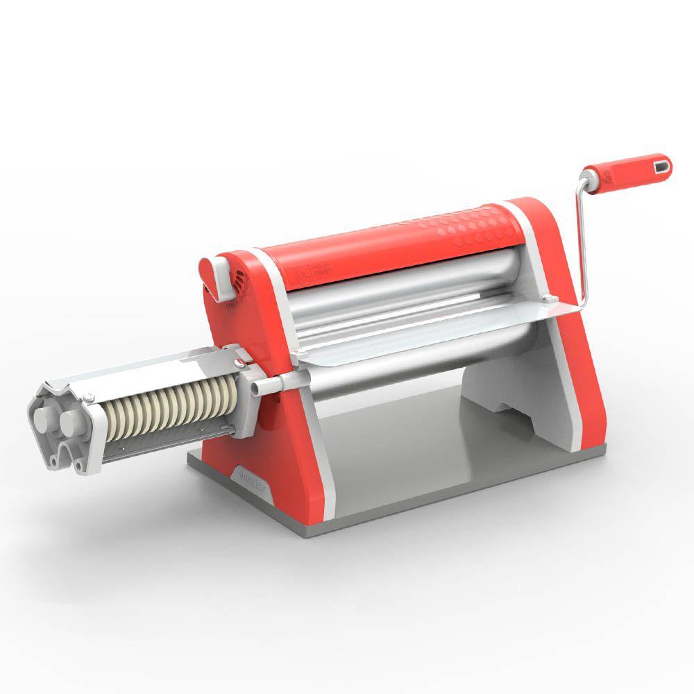 Cilindro Laminador Estilo de 28 cm Cromado com Cortador Vermelho