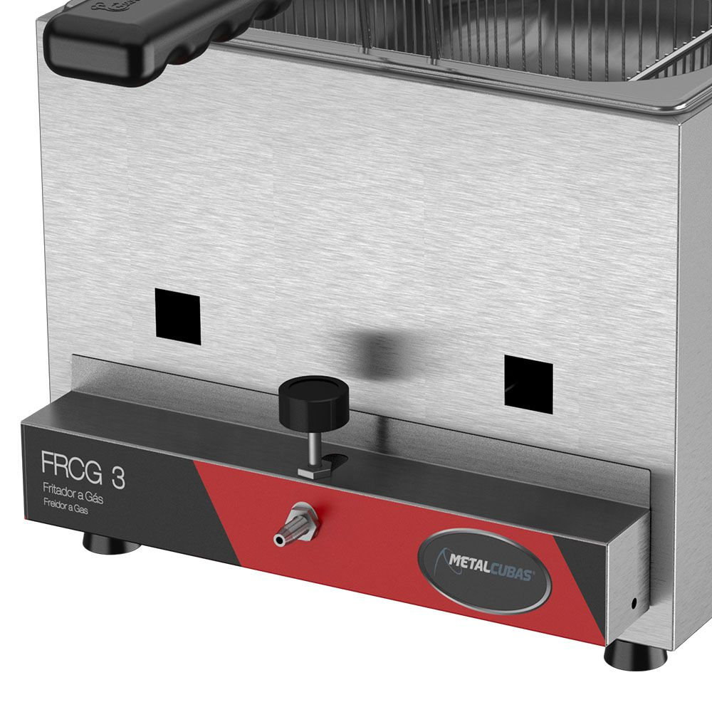 Fritadeira a Gás Metalcubas 3 Litros FRCG3