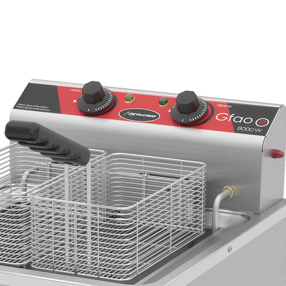Fritadeira Elétrica Água e Óleo Metalcubas 29 Litros GFAO30P 8000W 220V