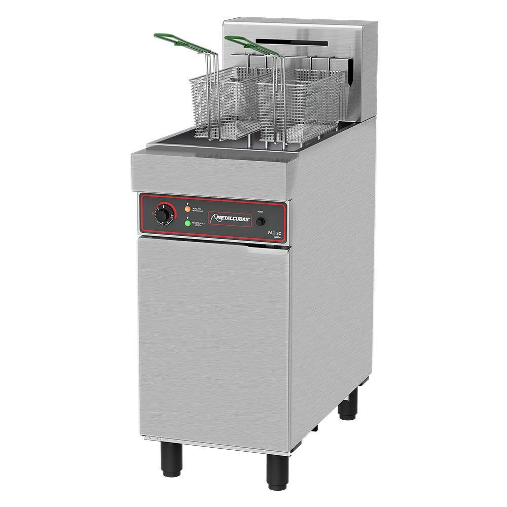 Fritadeira Elétrica Água e Óleo Metalcubas 30 Litros FAO2C 220V Trifásico