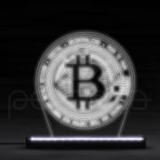 Luminaria LED - Bitcoin