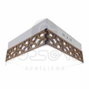 Plafon arabesco para alvenaria - 17cm