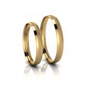 Alianças de Casamento Trácia Slim em ouro 18k, largura de 3 mm
