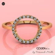 Anel em Ouro 18k - Golden Hearts + Perfeito