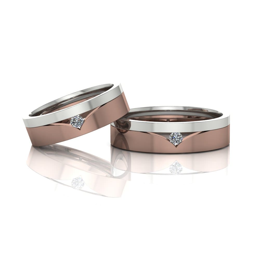 Alianças de Casamento Tique Ouro Rosé