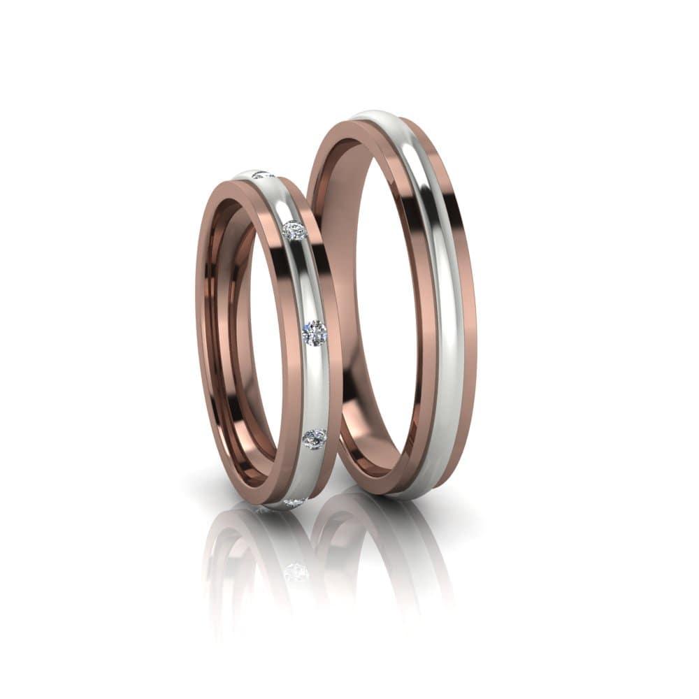 Aliança de Casamento Febe Ouro Rosé