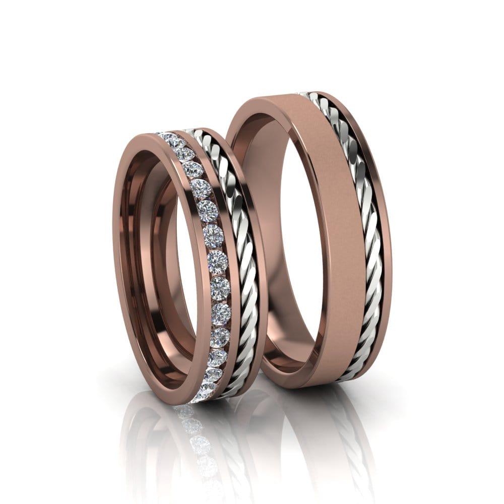 Aliança de Casamento Gaia Ouro Rosé