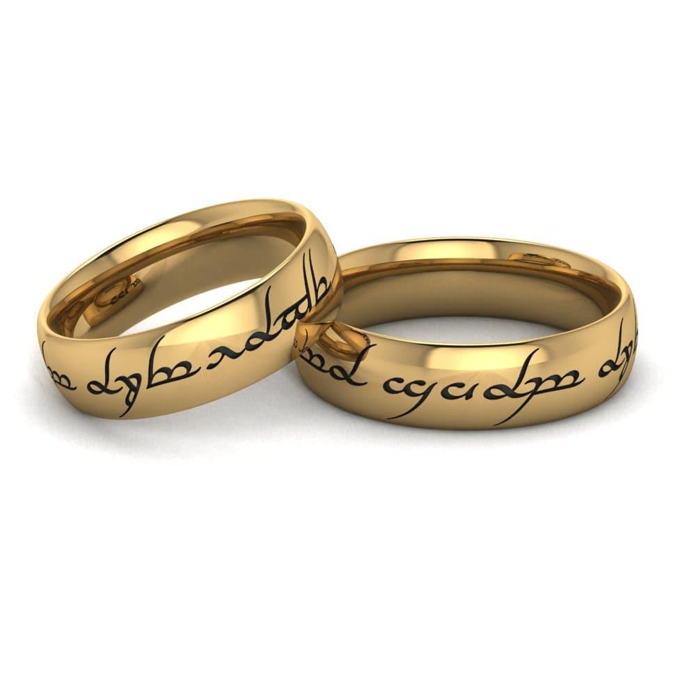 Alianças de Casamento Héstia em ouro 18k, largura de 6 mm