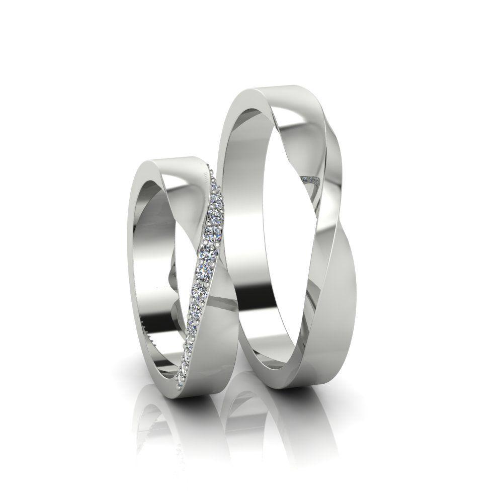 Aliança de Casamento Horas Ouro Branco