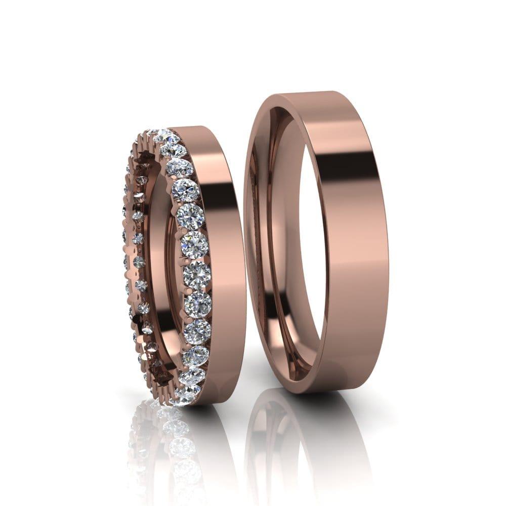 Aliança de Casamento Nix Ouro Rosé