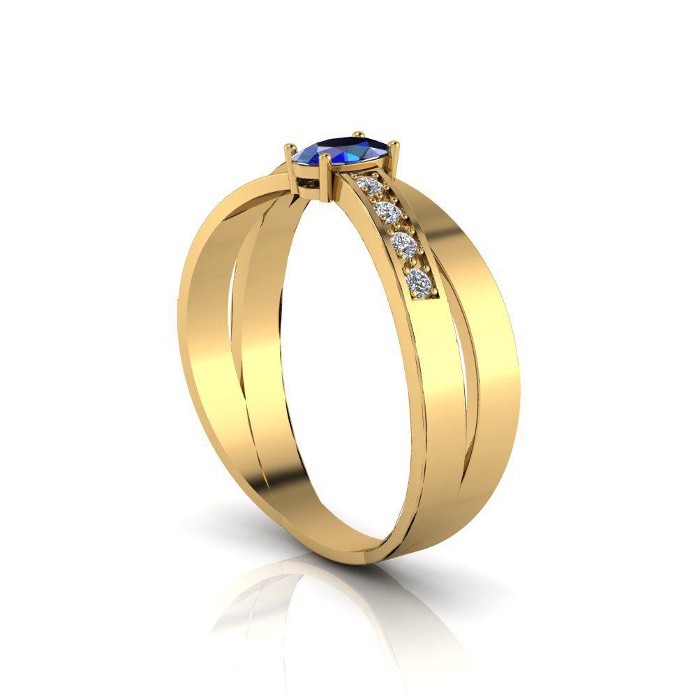Anel de Formatura Mykonos em ouro 18k, largura de 5,5 mm