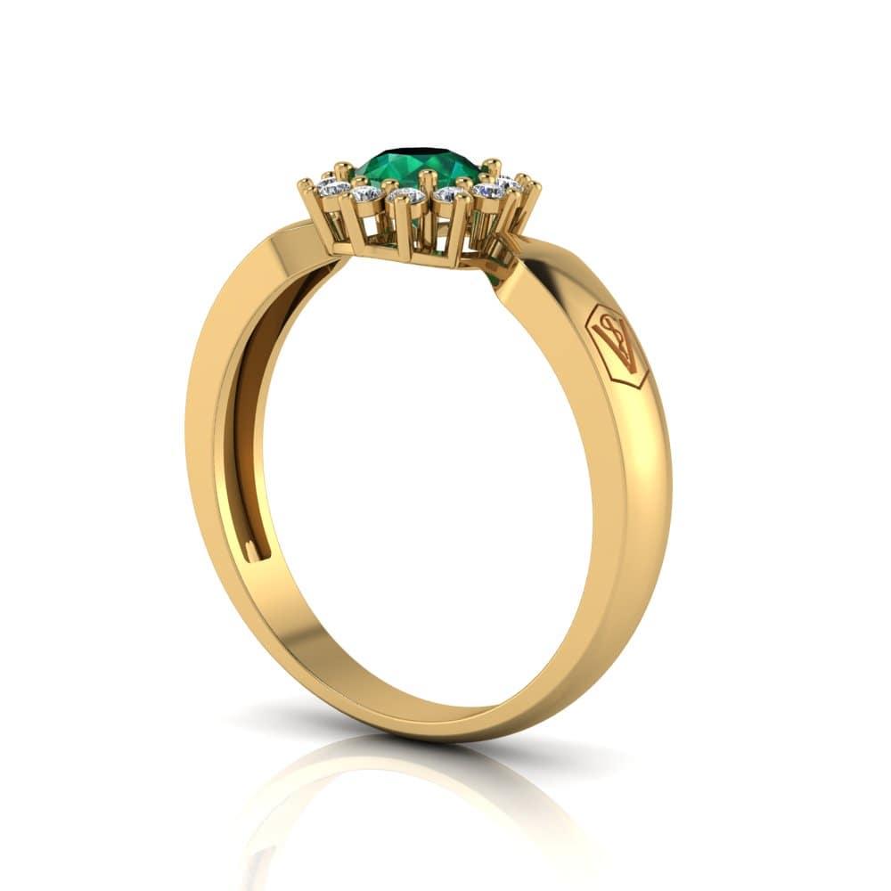 Anel de Formatura Santorini em ouro 18k