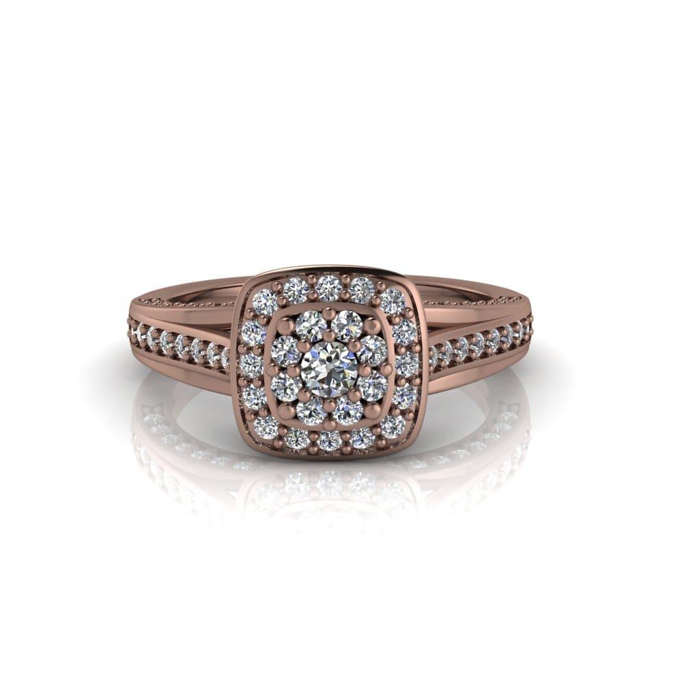 Anel de Noivado Apolo em ouro rosé 18k, com diamantes