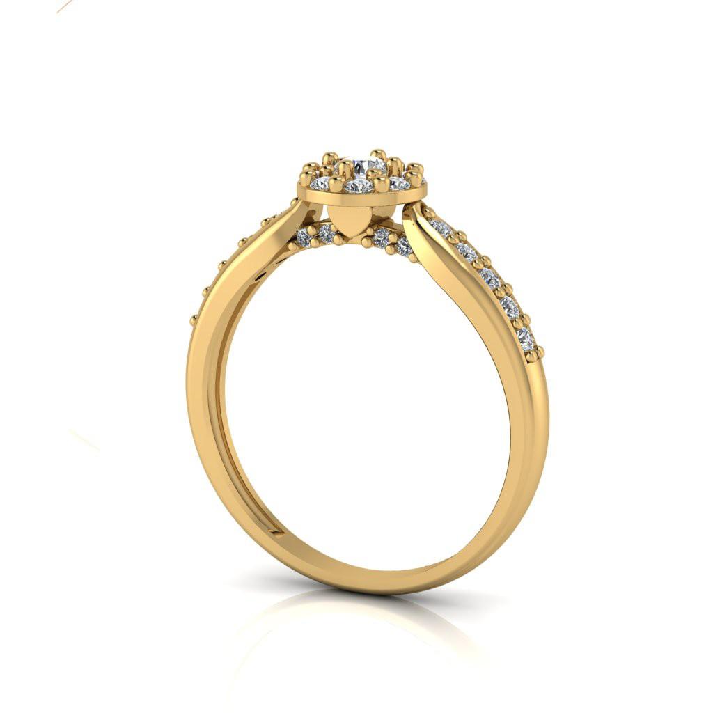 Anel de Noivado Eros em ouro 18k, com diamantes