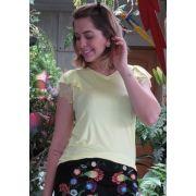 Blusa Mamô Romantica Decote Amarelo