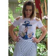 T-Shirt Mamô Ancora Branca