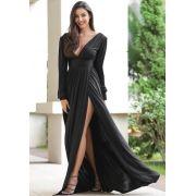 Vestido Lauren Longo Jersey