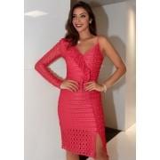 Vestido Liv Babado Tela Coral