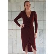 Vestido Vanda Lurex Vinho