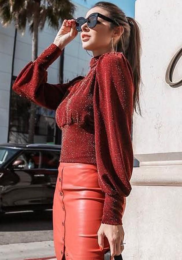 Blusa Lurex Bia Vermelha