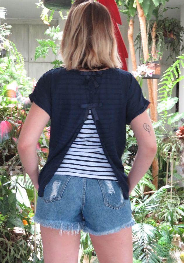 T-Shirt Mamô Nautica Marinho