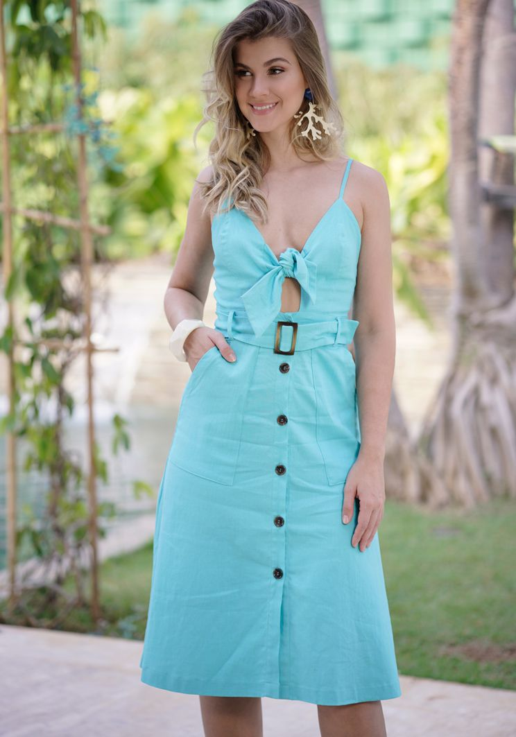 Vestido Diana Azul Claro