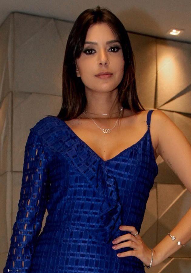 Vestido Liv Babado Tela Azul