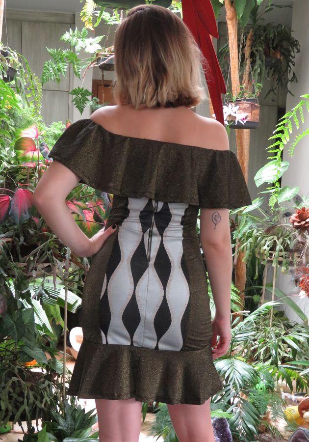 Vestido LIV Babados Jacquard