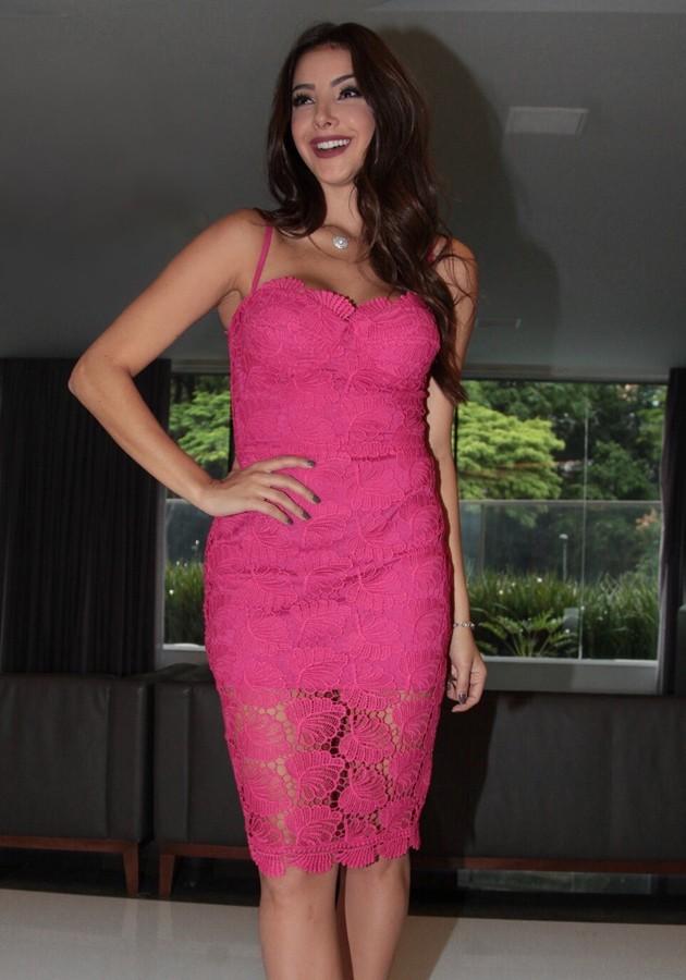 Vestido Liv Renda Pink