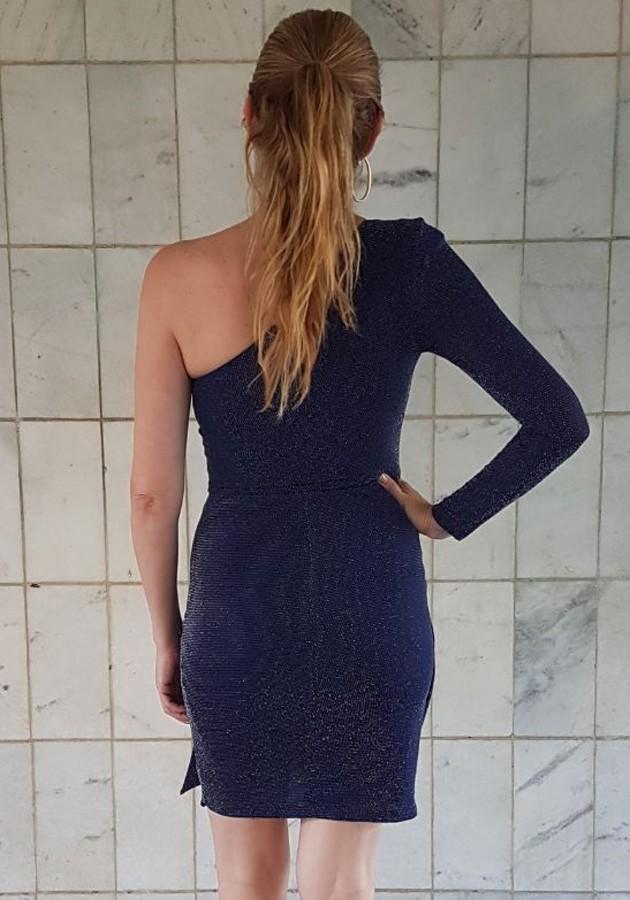Vestido Lívia Lurex Azul