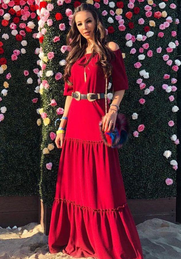Vestido Longo Sabrina Vermelho