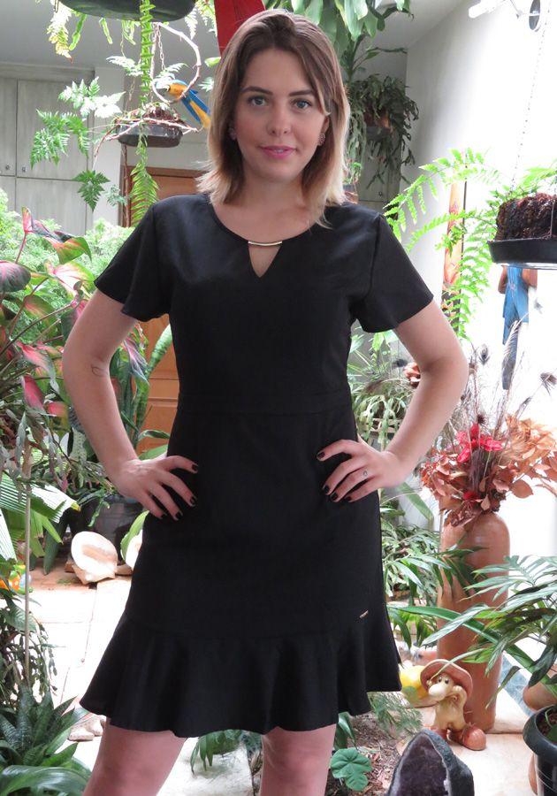Vestido Mamô Crepe Boneca Preto