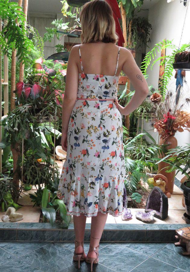 Vestido Mamô Floral Romantic Off-White