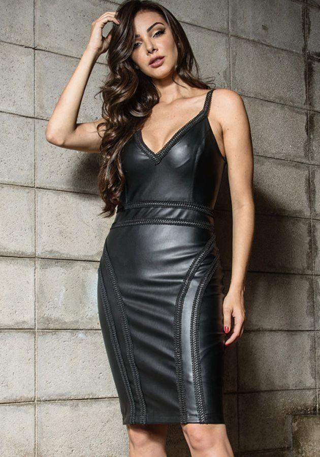 Vestido Manuela Couro
