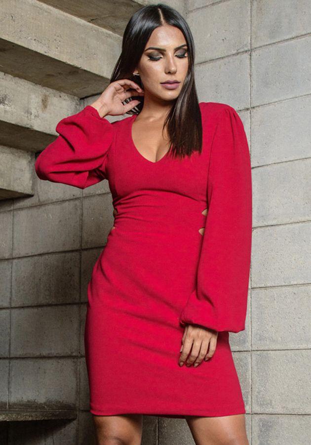 Vestido Melissa Cereja