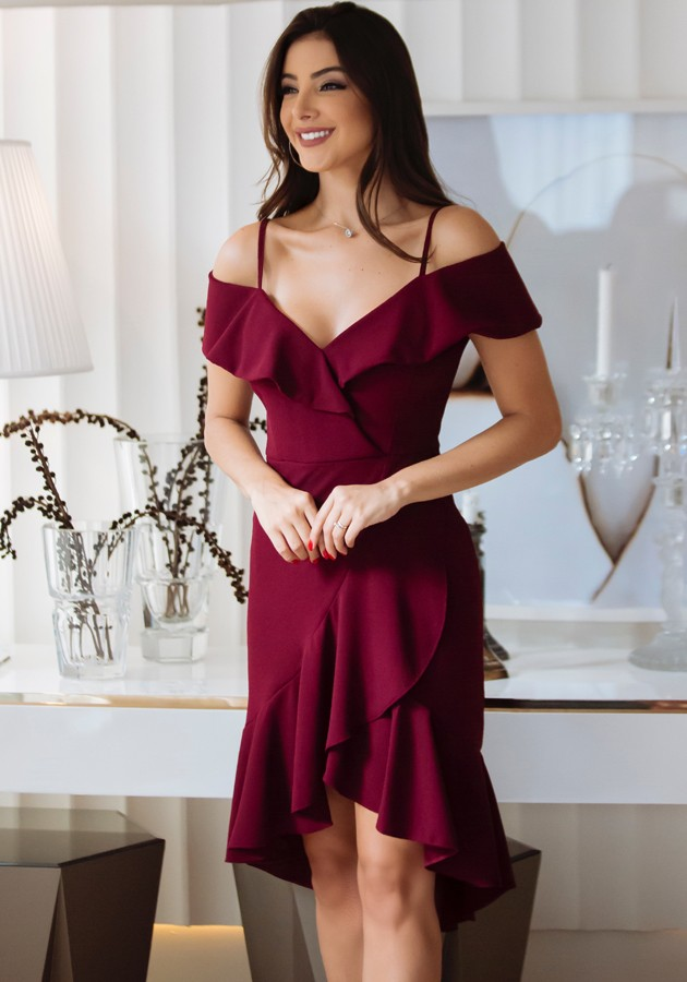 Vestido Samira Marsala
