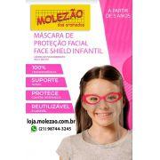 Máscara de proteção facial infantil  rosa (kit 10 uni)